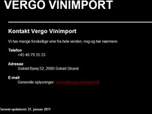 Vergo Vinimport I/S